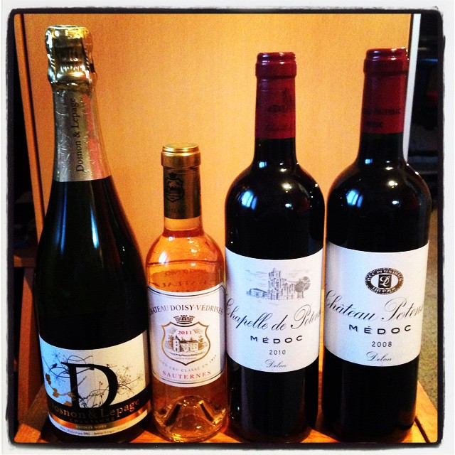 Something French for the holidays! #doson&lepage #recoltenoir #champagne #chateaudoisyvedrines #sauternes #chapelledepotensac #bordeaux #chateaupotensac #french #wine #christmas #holidays