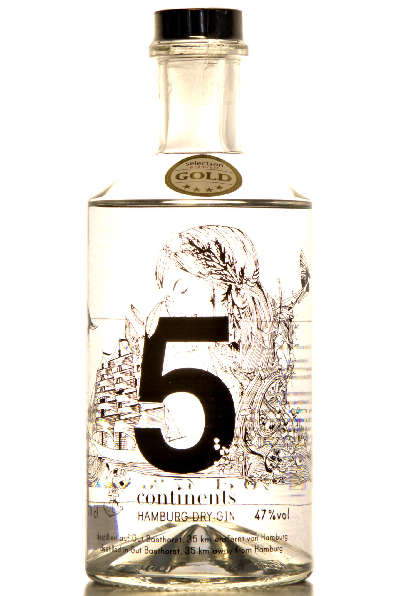 unbottled 5 continents london dry gin augustine bar. Black Bedroom Furniture Sets. Home Design Ideas