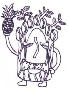 Plantation Coffee Tiki God